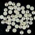 2mm Pérolas Flat Voltar para Unhas de Acrílico Beads Jóias para Unhas Suprimentos Pérola Decorações Nail Art Microbeads Strass MJZ0043