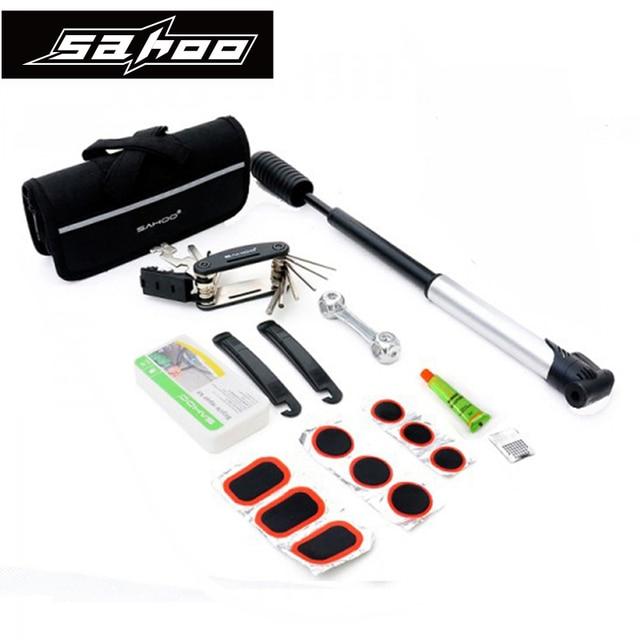 SAHOO Bike Tools Tire Repair Tools Kit Frame Mounted Bicycle Tools ...