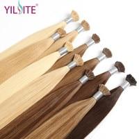 YILITE HAIR 1g/strand 16 18 20 Cuticle Remy I Tip Human Hair Extension Color Fusion 100% European Hair Extension Keratin Bond