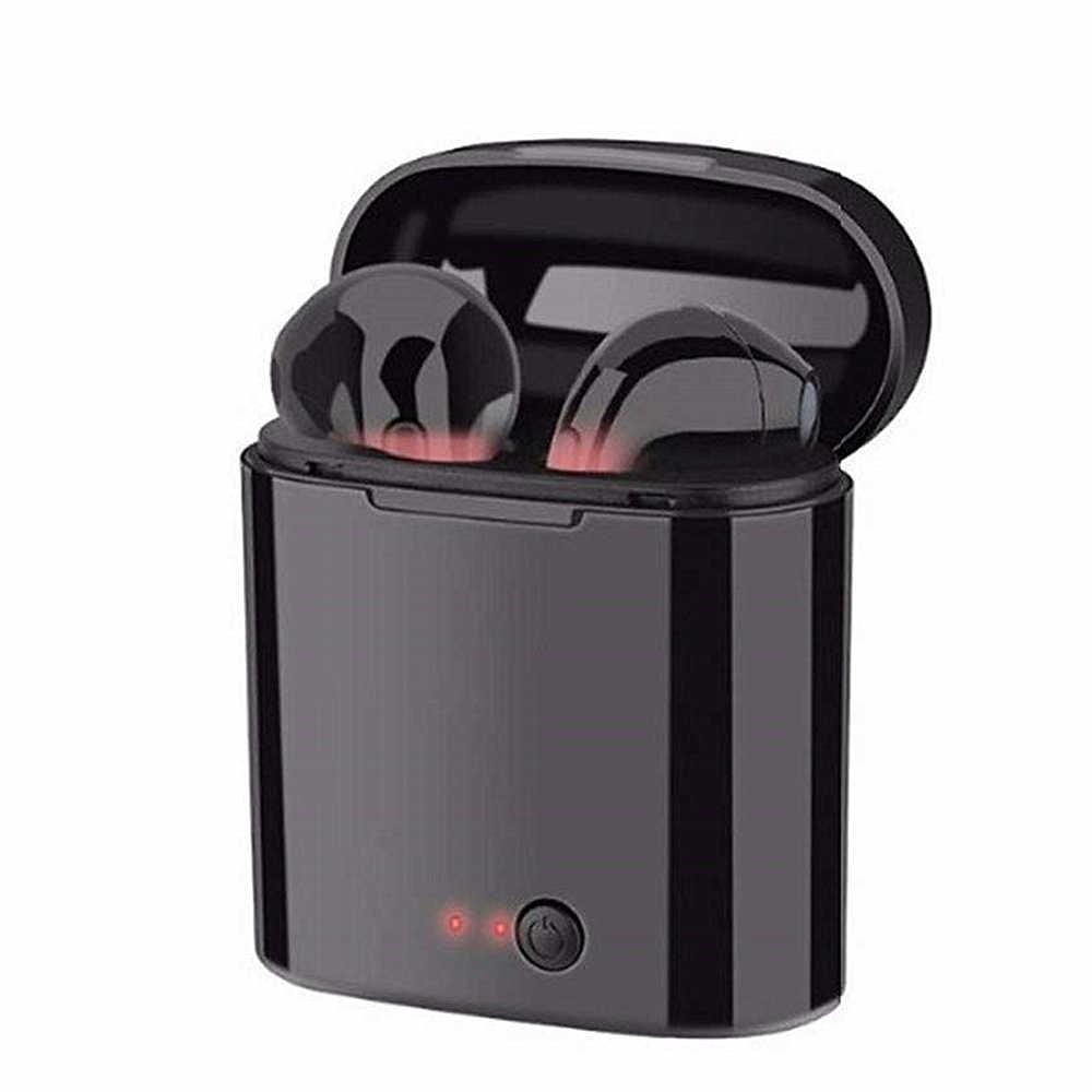 I7s TWS אלחוטי אוזניות 3D Bluetooth5.0 אנדרואיד אוזניות אוזניות עבור Iphone 7 8 בתוספת x xr שיאו mi mi 9T + טעינת תיבת ספורט
