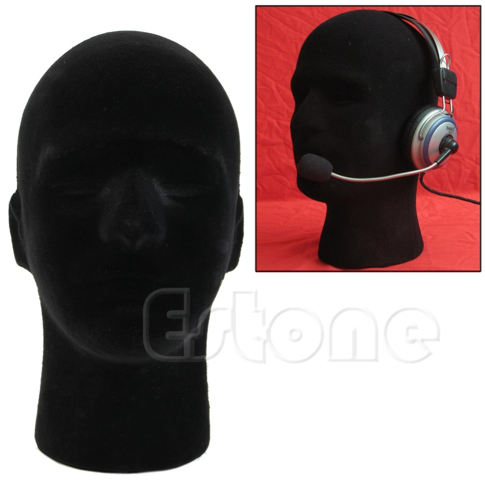 Mannequin Male Styrofoam Foam Wigs Glasses Cap Head Model Display Stand