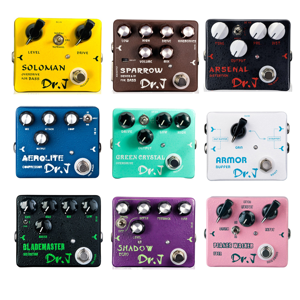 JOYO Dr J Series Guitar Effective Pedal of overdrive Green Crystal Arsenal Distortion Sparrow Driver DI