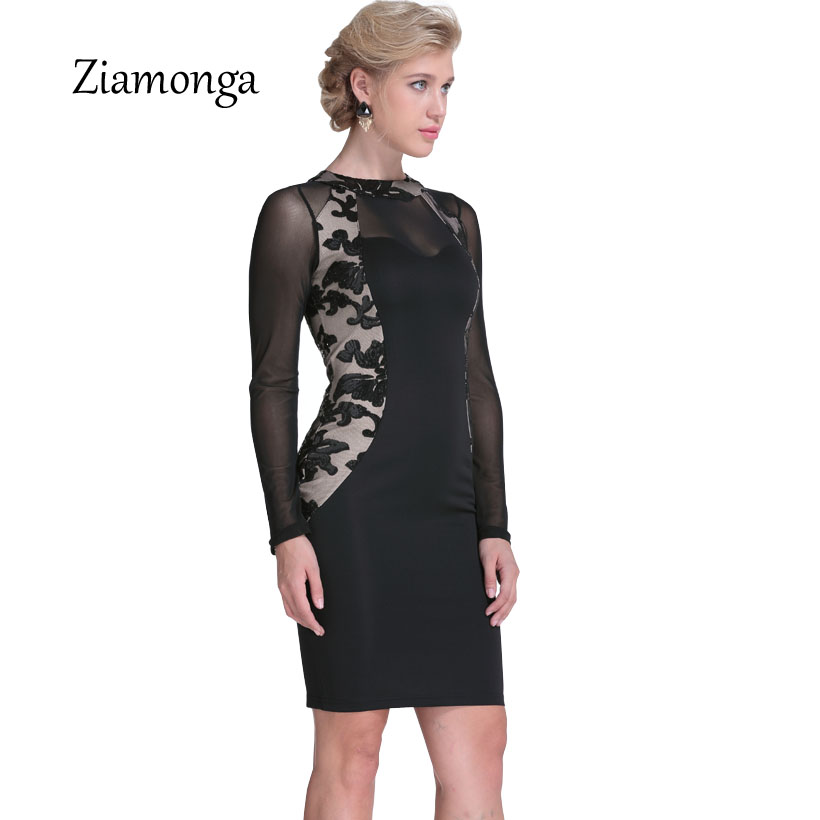 Ziamonga Autumn Winter Black Long Sleeve Sequin Dress 2017 Sexy Bodycon  Sheath O Neck Party Bandage Dress Nightclub Women Dress-in Dresses from  Women s ... 20a8bb63541d