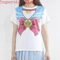New sailor moon anime chibimoon harajuku kawaii girl s fake print cosplay t shirt woman tops.jpg 200x200