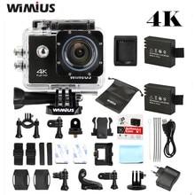 """Wimius 4 K Cámara de Deportes de Acción WiFi Full HD 1080 P 60fps 2 """"LCD ir A Prueba de agua Pro Mini Helmet Camcorder 16MP 170D Gran Angular Cam"""