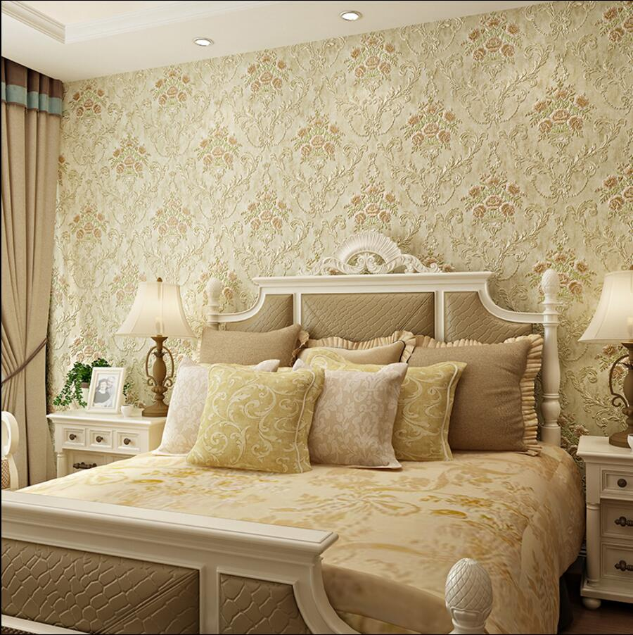 3d sculpture flower wallpaper rustic fashion non-woven wallpaper tv background wall wallpaper