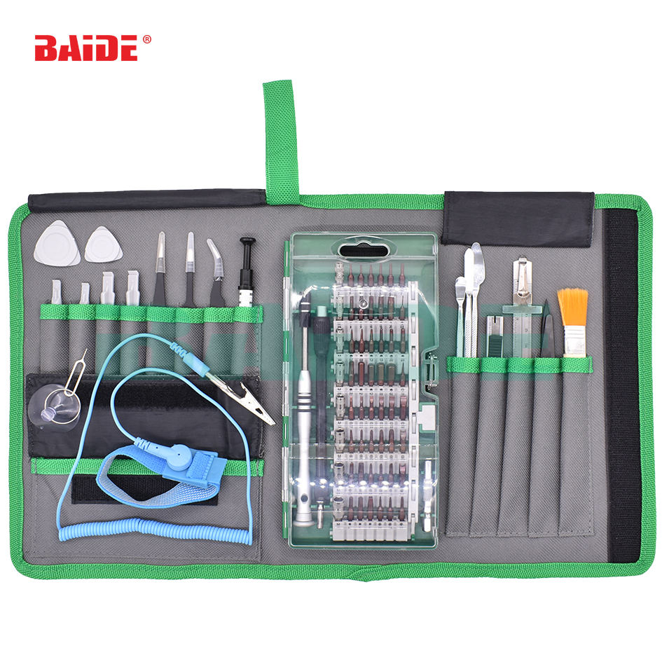 5set/lot 80 in 1 Precision Screwdriver Set Magnet Repair Tool Kit with Portable Bag for iPhone Cell Phone iPad Tablet PC|Hand Tool Sets| |  - title=