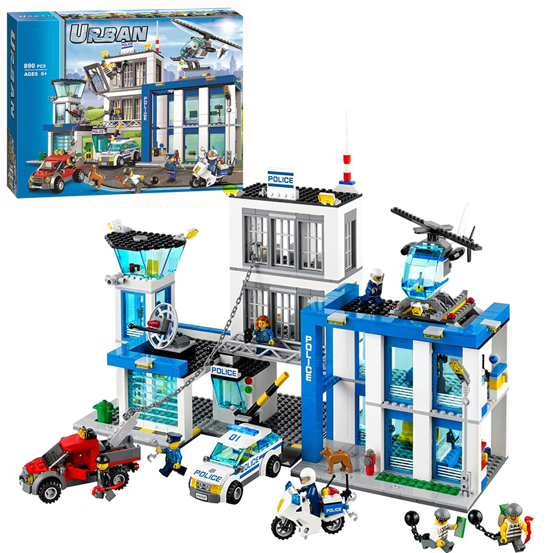 ФОТО Bela 10424 City Police Station building bricks blocks Toys for children boys Game Team Castle Compatible with Decool Lepin 60047