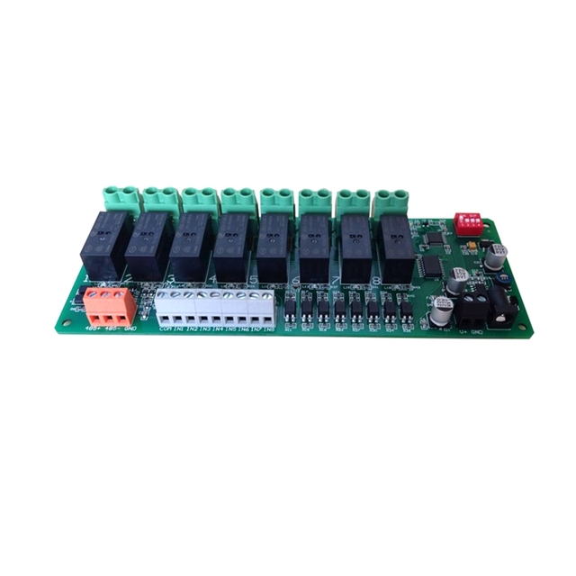 8 Channel IO 8in 8out RS485 Relay Module with RS485 Control Keypad 16A