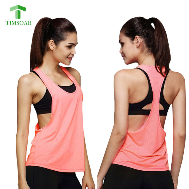 Timsoar gimnasio camisa deportiva Yoga Tops chaleco sin mangas fitness ropa  running camisetas Deporte Mujer mujeres 8c2e18d6b9b76