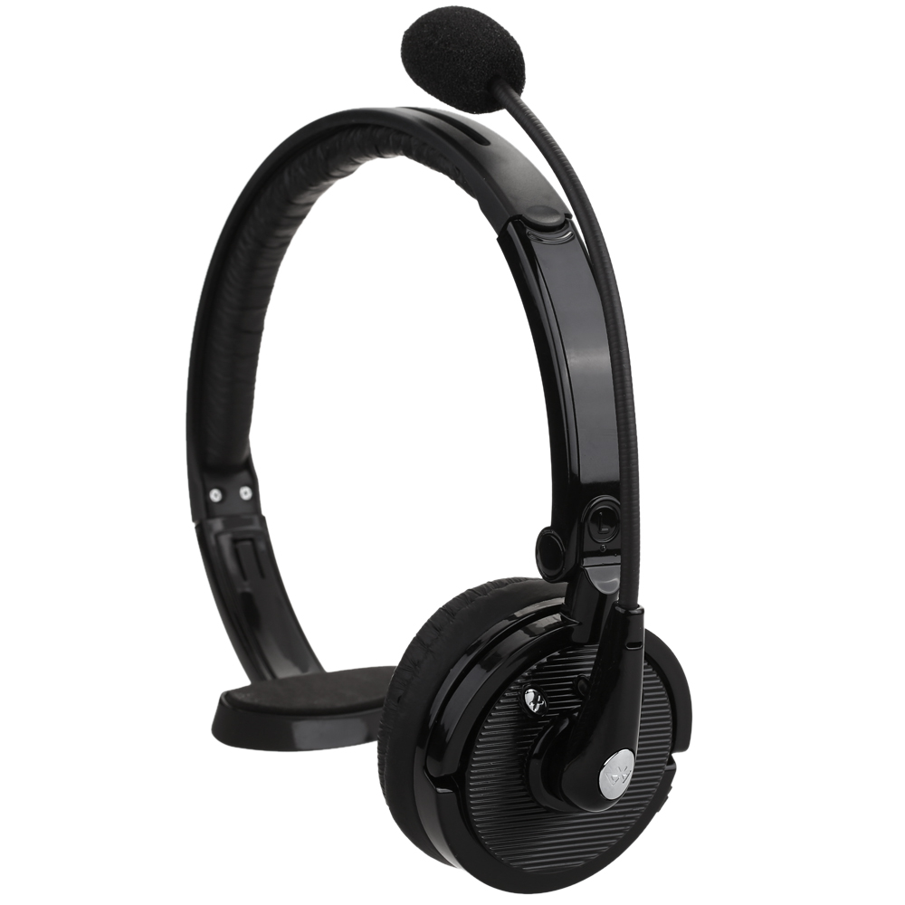 BH M10B Wireless Headset Bluetooth Headphone Boom Mono Multi Point Hands Free Earphone With Mic