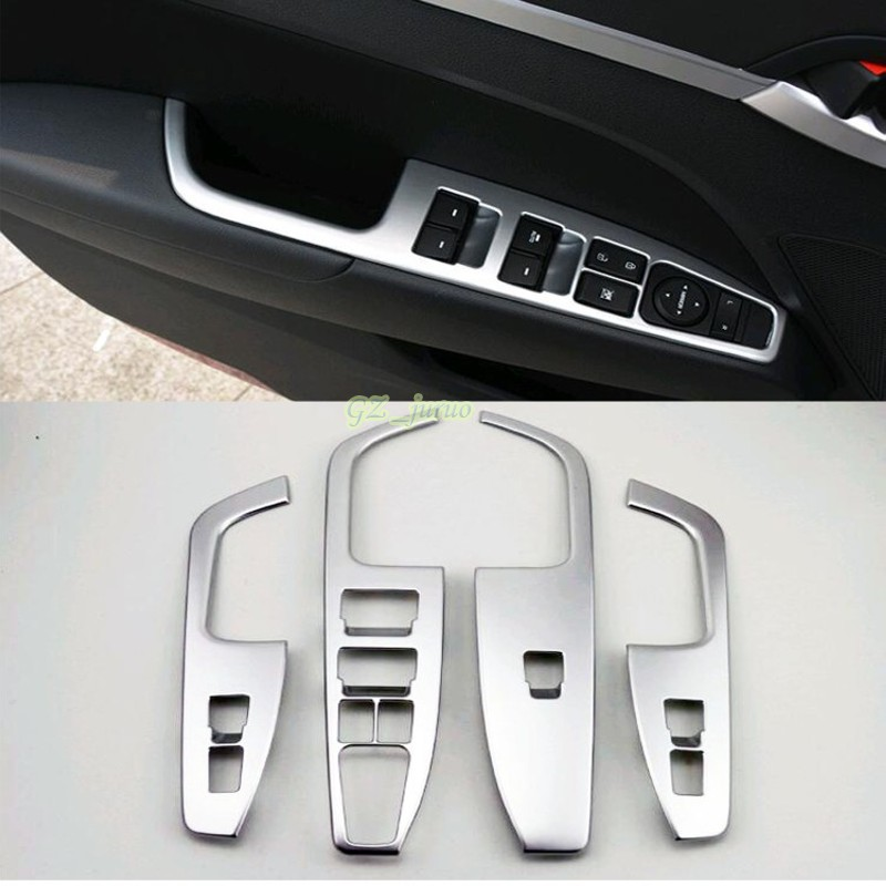 abs matt interior door cover armrest trim 4pcs for hyundai elantra avante 2016 2017 car styling. Black Bedroom Furniture Sets. Home Design Ideas