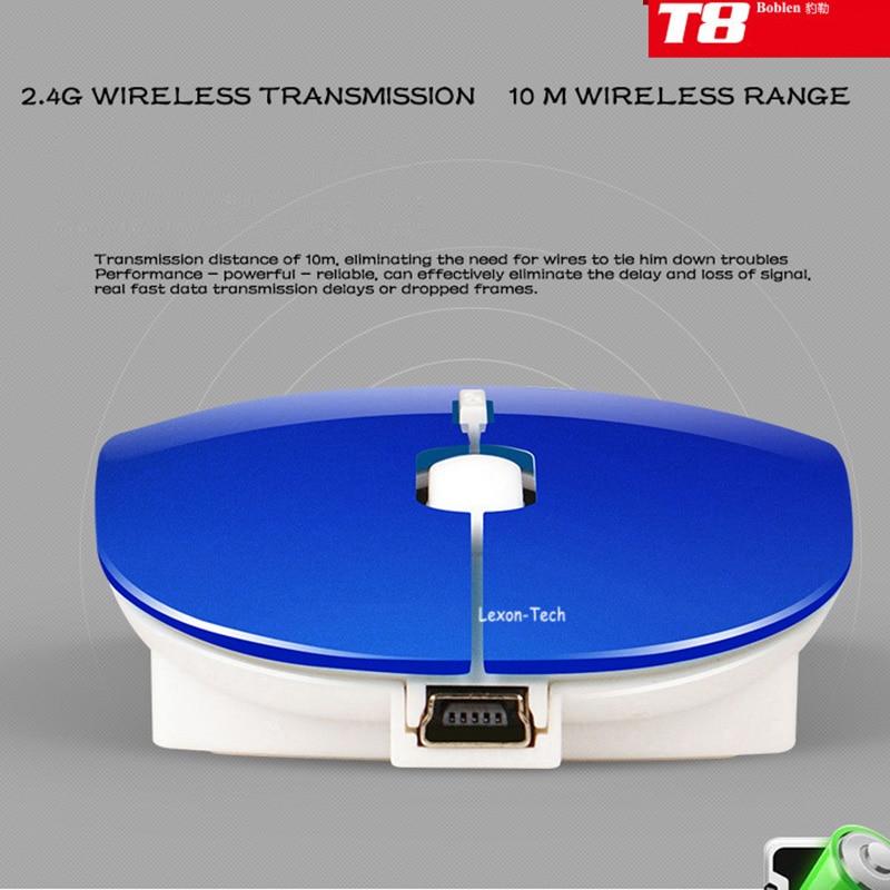 Boblen T8 2.4GHz simsiz şarj edilə bilən 2400DPI USB Optik - Kompüter periferikler - Fotoqrafiya 4