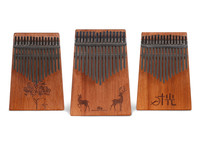 15 Key Kalimba Mahogany African Thumb Piano Finger Percussion Keyboard Music Instruments