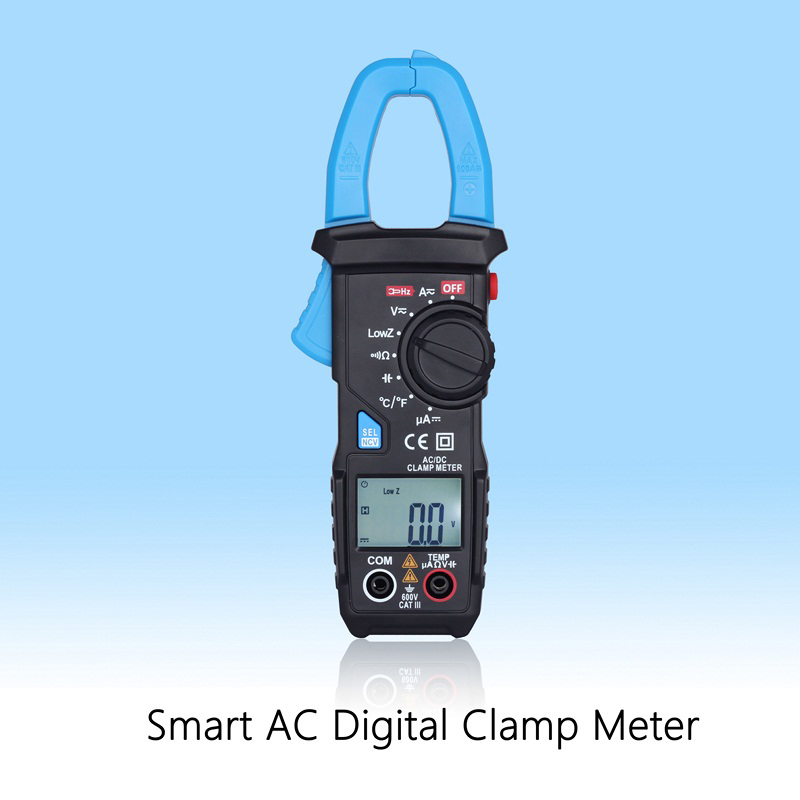 Digital Clamp Meter Ammeter High-Precision Frequency 600A Digital Multimeter DC AC Current Tester For Testing Resistance Voltage free shippin 5pcs lot new high quality blue mini digital clamp meter digital multimeter compare ms2008b for temp frequency meter