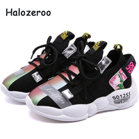 New 2019 Autumn Kids Sport Sneakers Baby Girls Casual Sneakers Children Mesh Shoes Boys Brand Shoes Black Soft Sneakers Trainer