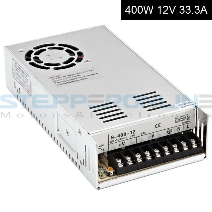 DC12V 400W 33A Switching Power Supply 115V/230V to Stepper Motor 3D Printer/CNC dc60v 350w 5 9a switching power supply 115v 230v to stepper motor diy cnc router