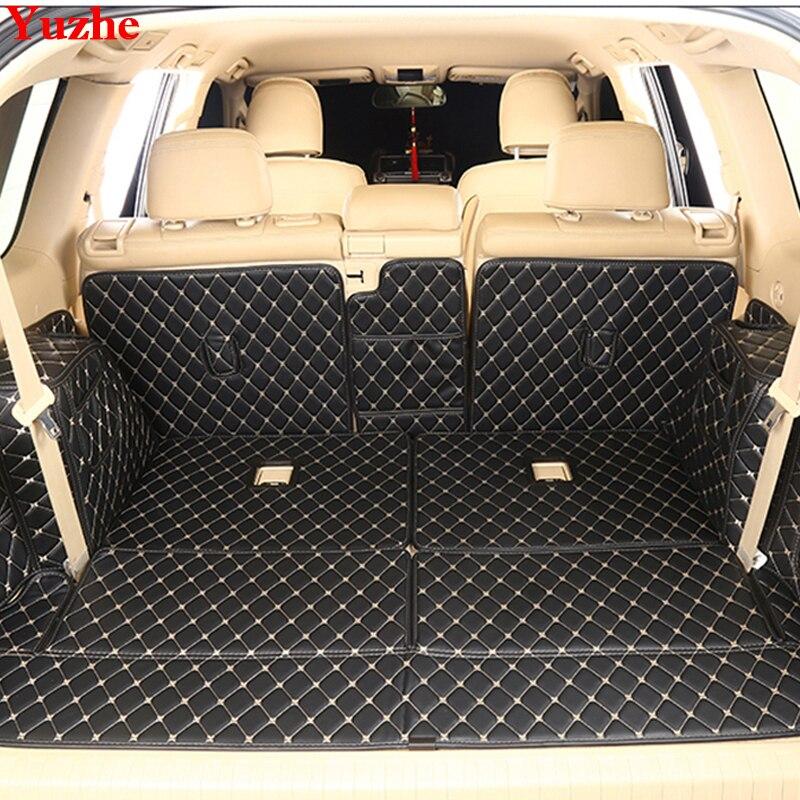 Yuzhe пользовательские багажник автомобиля коврик для Toyota Land Cruiser Prado 120 150 200 Коврики для багажника Салонные аксессуары Ковры Тюнинг автомобил