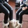 2016 Зимние новые волосы утолщение дети искусственная кожа брюки Леггинсы теплые брюки cuhk брюки девушки Детские брюки