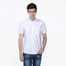 New Slim Fit Argyle Dot White Cotton Casual Shirt Men s Social Dress Shirt Short Sleeve