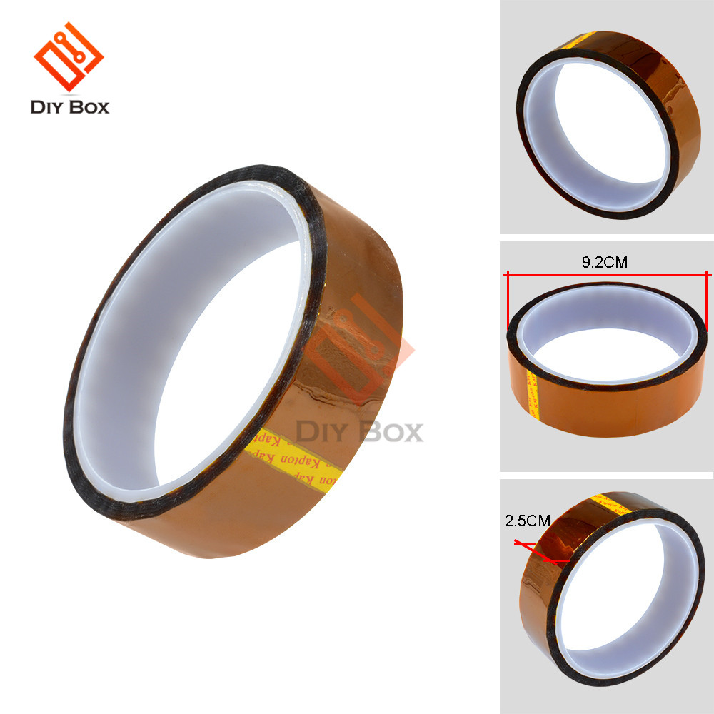 5-6-8-10-12-15-20-25-30-40-50mm-x-30m-tape-sticky-high-temperature-heat-resistant-polyimide-gummed-adhesive-tape-kapton-tape