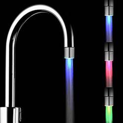 Светодио дный кухонный кран светящийся кухонный кран torneira para cozinha Температурный датчик света водяной кран кухня ванная комната grifo cocina