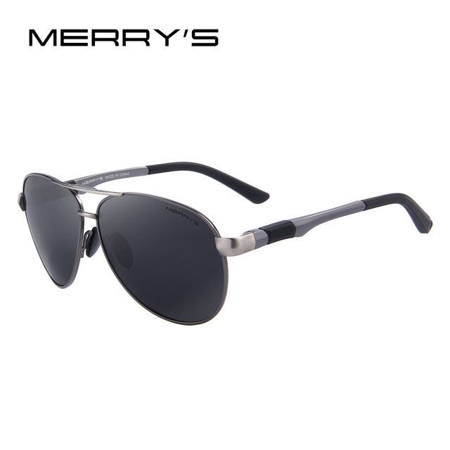 230a0bbc10 MERRY S DESIGN Men Classic Pilot Sunglasses HD Polarized Sunglasses For  Driving Aviation Alloy Frame Spring Legs UV400 S 8404