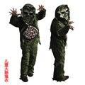 Crianças criança menino do Dia Das Bruxas cosplay traje Horror Assustador Zombie fantasma grande Intestino Pântano Adereços Partido Stage Outfits roupas