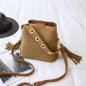 Image 4 - Bolish Women Fashion PU Shoulder Bag Female Vintage Daily Shopping Handbag All Purpose Tassel Messenger Bag Causal Dames Tassen