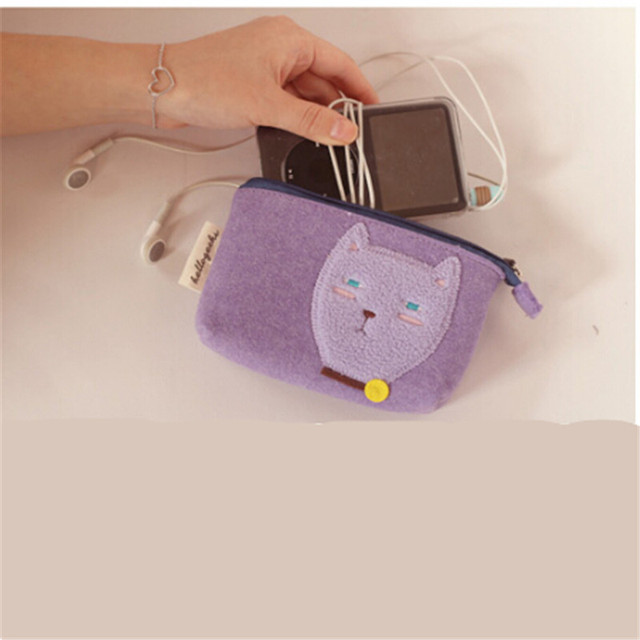 LKEEP 2018 New Fashion Women Cat Coin Purse Cute Cartoon Wallets bags Card Bags Bolsas Carteira Feminina Coin Bag