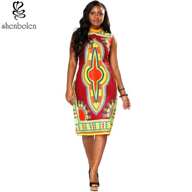 2017 Africain rétro style femmes de robe, de haute qualité à coudre rétro  positionnement imprimé