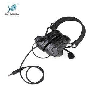 Image 2 - Z Tac Tactical Headset Peltor Comtac II Helmet Aviation Headset Airsoft  Active Headset Military Shooting Headphones Softair