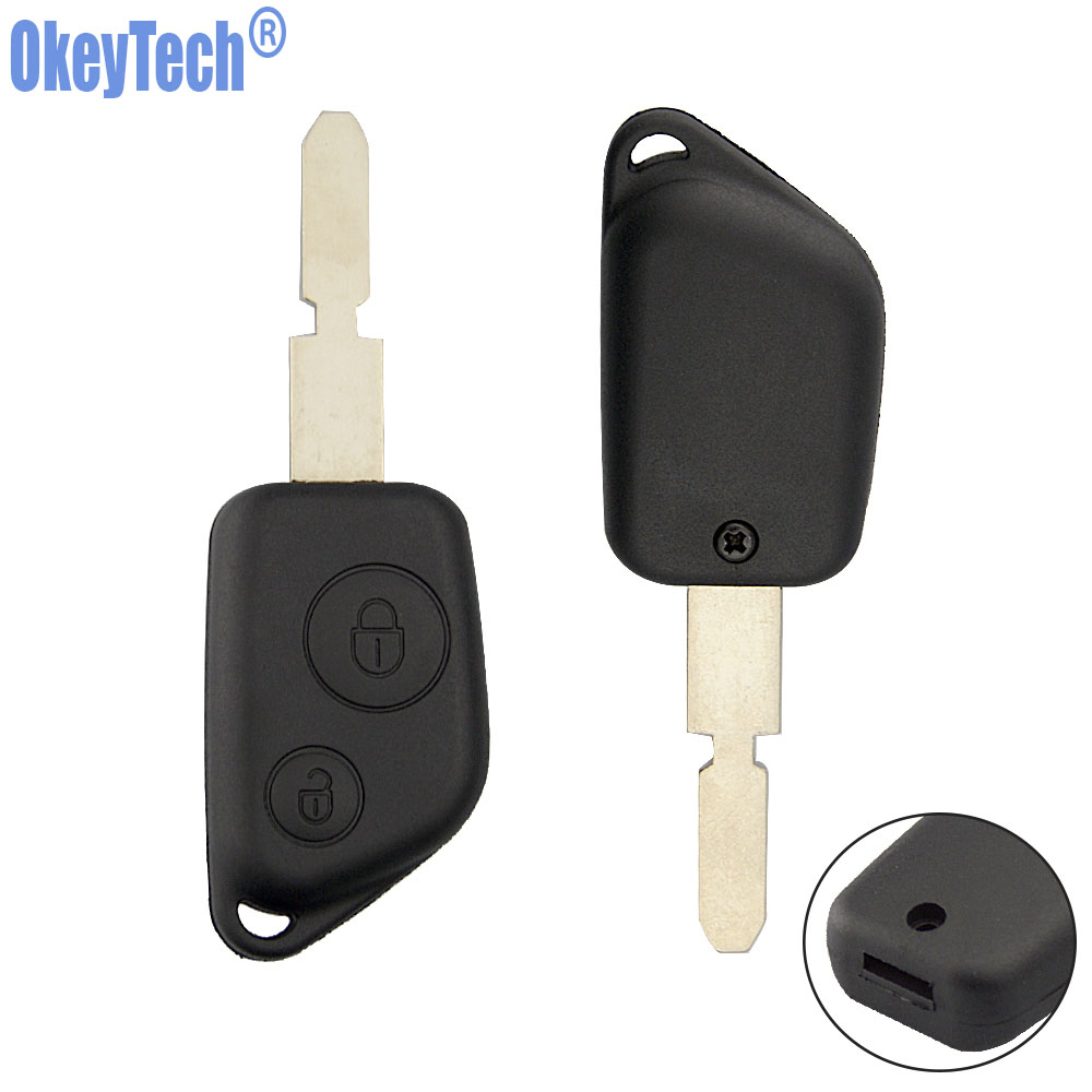 OkeyTech 2 Buttons Car <font><b>Remote</b></font> <font><b>Key</b></font> Shell for <font><b>Peugeot</b></font> 106 205 206 306 307 405 <font><b>406</b></font> Auto Replacement <font><b>Key</b></font> Case for Citroen Fob Cover image