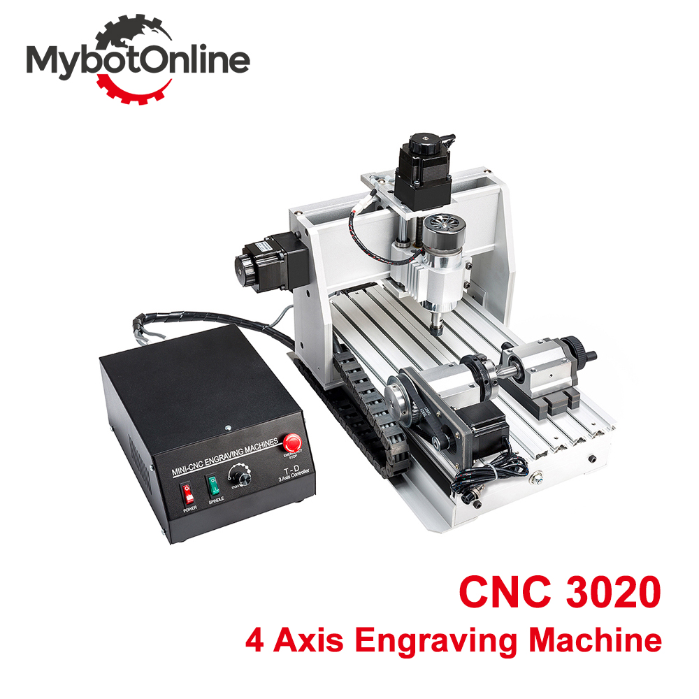 4 Axis <font><b>CNC</b></font> Engraving Machine 300W/800W/1.5KW <font><b>3020</b></font> DC Power Spindle Motor <font><b>CNC</b></font> <font><b>Router</b></font> Machine Drilling <font><b>Router</b></font> image