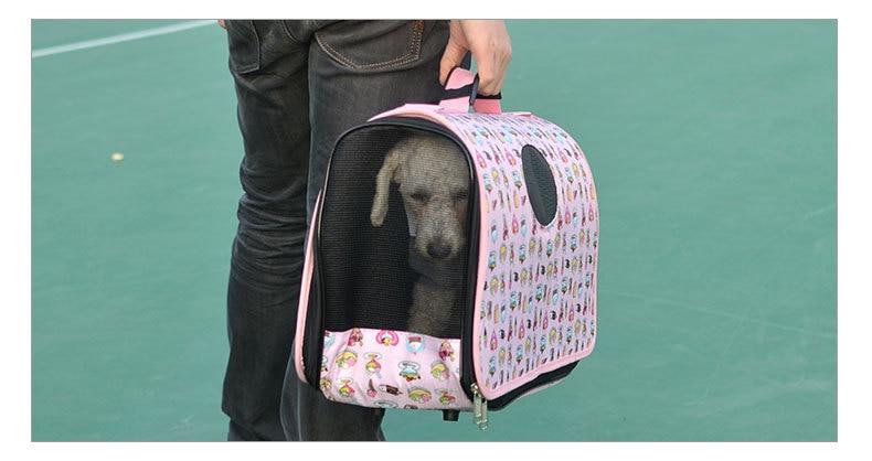 2016 petcircle новый складной печати для перевозки домашних животных кошка собака нести стороны Сумка дорожная Портативный щенок рюкзак кейс