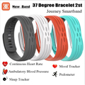 Heart Rate Blood Pressure Smart band 37 Degree 2nd Journey IOS Android Wristband Fitness Tracker IP67 Waterproof Smart Bracelet