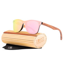 HINDFIELD Retro Handmade Wood Bamboo Sunglasses Men Women Brand Design Wood Sun Glasses Polarized Oculos De Sol Masculino LS5029 стоимость