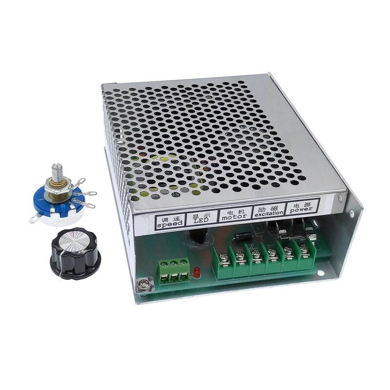 Постоянный ток 0 В-220 в WK622 6A регулятор скорости ШИМ для DC PM управления двигателем источник питания подходит для DC шпинделя двигателя 220VAC вход