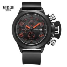 Baogela New futuristic fashion casual Men Sport Watch Army Watch Silicone Luxury Top Brand quartz Watch Relogio Masculino