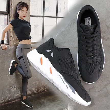 Fitness Sneaker Summer Sports Shoes For Women Shoe Breathable Track Shoes New Students Yoga All Match Portable Gym Shoes Walking