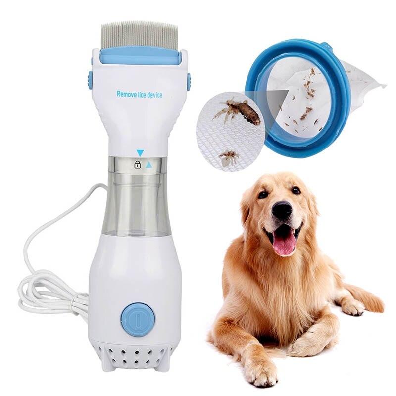 7PCS/Set Pet Electric Mites Lice Comb Machine Dog Hair Cleaner Brushes Remove The Tweezers Scorpion Flea Pet Supplies Decoration מסרק כינים