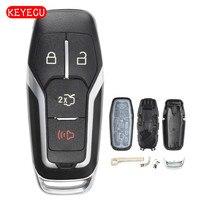 Keyecu Smart Prox Caso Shell Chiave A Distanza 4 Button Fob per Ford Mustang Fusion F150