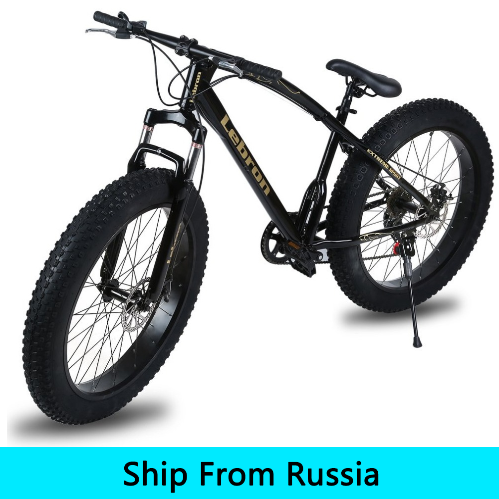 (Ship From Russia) 26x21 Inch 7 Speed Snow Bike Double Disc Braking System Mountain Bike Outdoor Sports Exercise Bike russia only 26 inch 7 21 24 2 speed folding fat bike double disc brakes mountain bike big tire snow bike for man and women