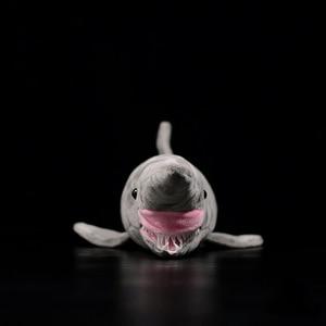 Image 2 - ยาว 66 ซม.เหมือนจริง Goblin Shark ตุ๊กตาของเล่น Super นุ่มสมจริงสัตว์ทะเล Elfin Shark Plush ของเล่นสำหรับเด็ก