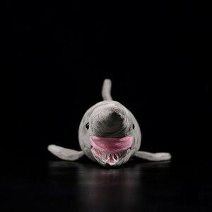 Image 2 - 66 centimetri Lunghi Realistica Goblin Squalo Farcito Giocattoli Super Morbido Realistico Mare Animali Elfin Shark Peluche Giocattolo Per I Bambini