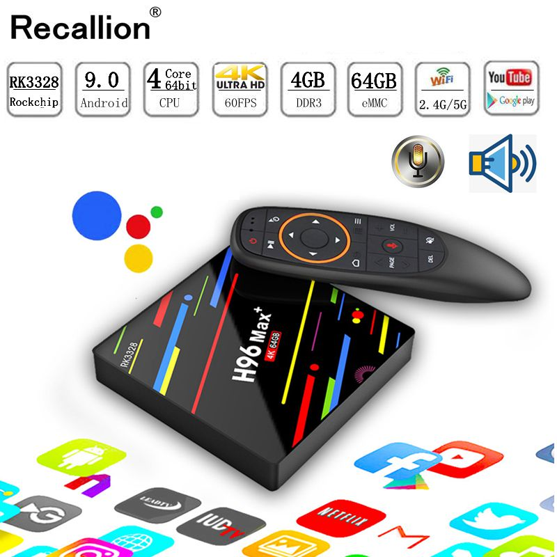 H96 MAX Plus TV Box Android 9.0 décodeur intelligent RK3328 4 GB 32 GB 64 GB 5G Wifi 4 K H.265 lecteur multimédia H96 Pro H2 PK X96 MAX