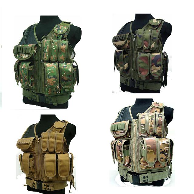 Deluxe Airsoft Tactical Vest Combate Malha CP CAMO engrenagem da polícia gilet tactique policial tatico militar equipamentos policiais