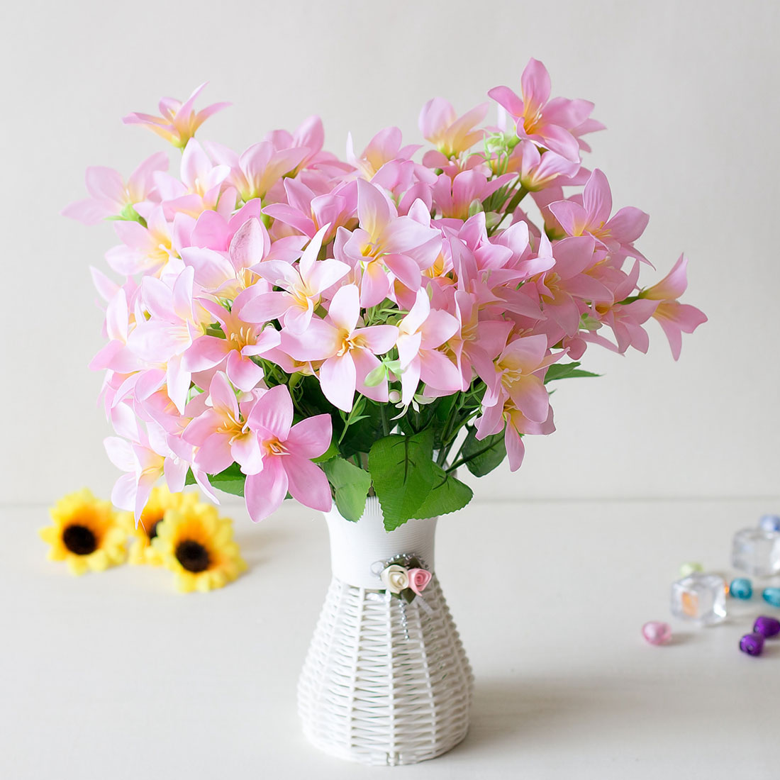 Hot Real Touch Artificial Flowers Wedding Decorative Flowers Calla Lily Silk Fake Flowers Wedding Party Decoration Accessories