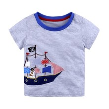 Boys Tops Summer 2018 Brand Children T shirts Boys Clothes Kids Tee Shirt 100% Cotton Character Print Baby Boy Clothing