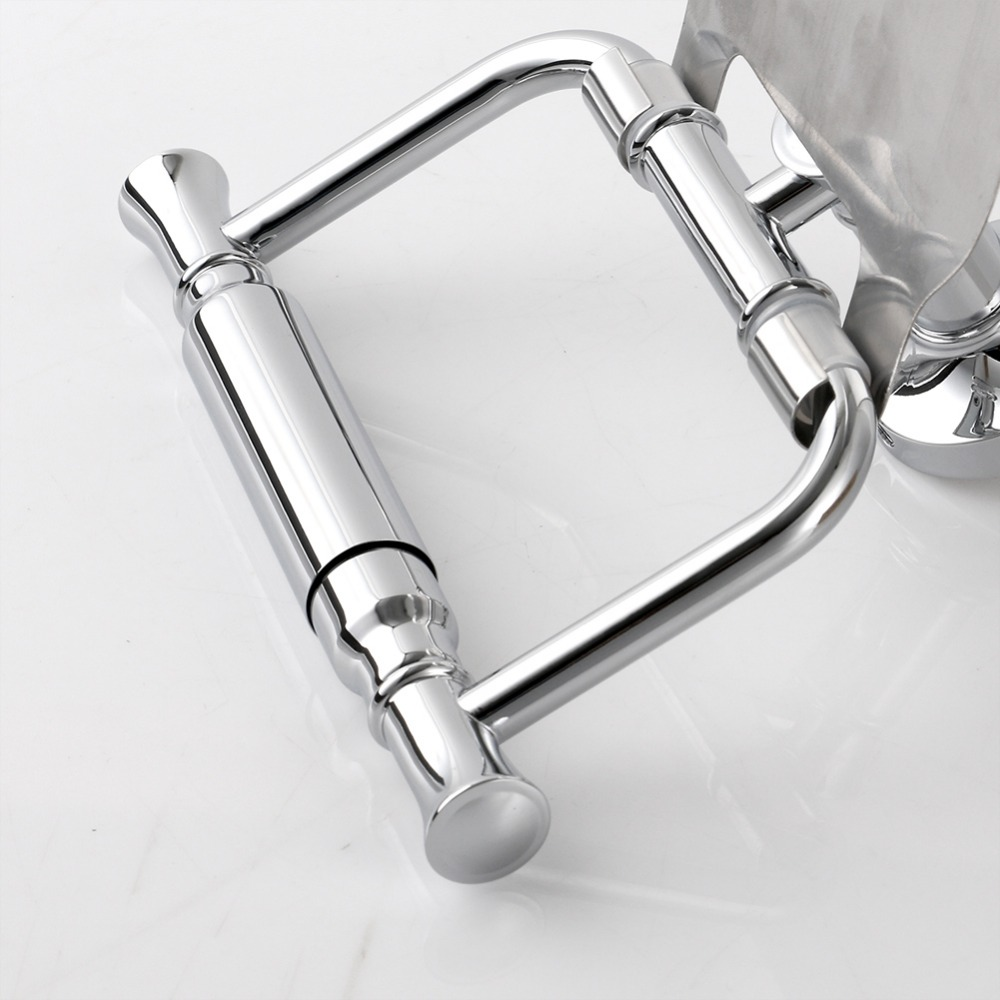 Toilet Accessories Us 37 03 29 Off Jomoo European Style Wall Mounted Bathroom Accessories Chrome Paper Holder Tissue Roll Holder Washroom Toilet Accessories In Paper